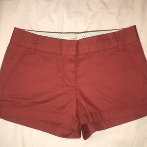 J.Crew Chino Brick Red Shorts
